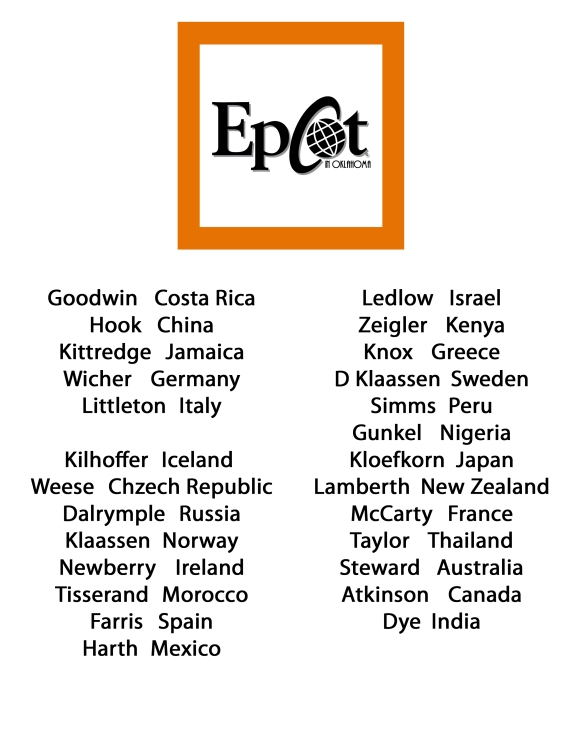 epcot in oklahoma name list